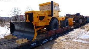 Размещение и крепление машин на гусеничном ходу при грузовой ЖД перевозке