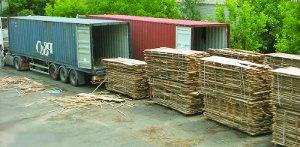 Перевозка лесоматериалов в пакетах