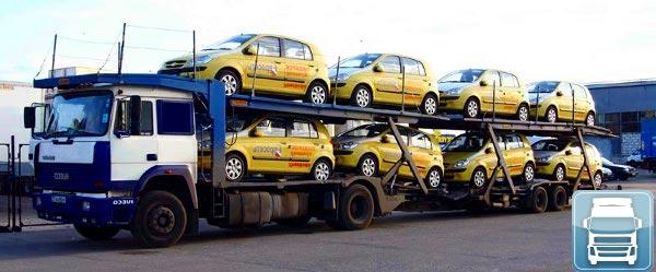 Перевозки автомобилей автовозом