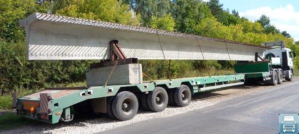 Перевозка длинномерных грузов автомобильным транспортом