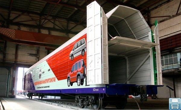 ЖД вагоны для перевозки автомобилей