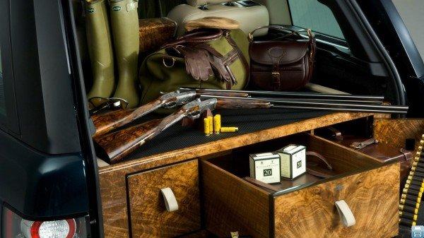 Охотничье оружие в багажнике