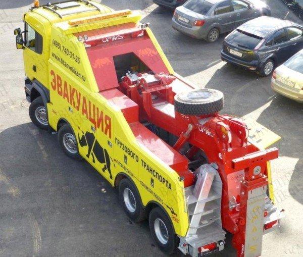Эвакуатор Scania R 620 вид сверху