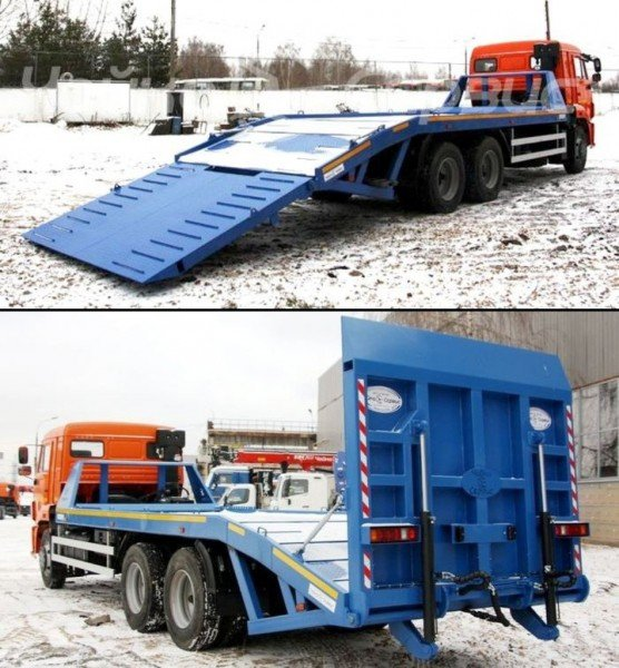 Эвакуатор для перевозки спецтехники на основе шасси КАМАЗ-65115