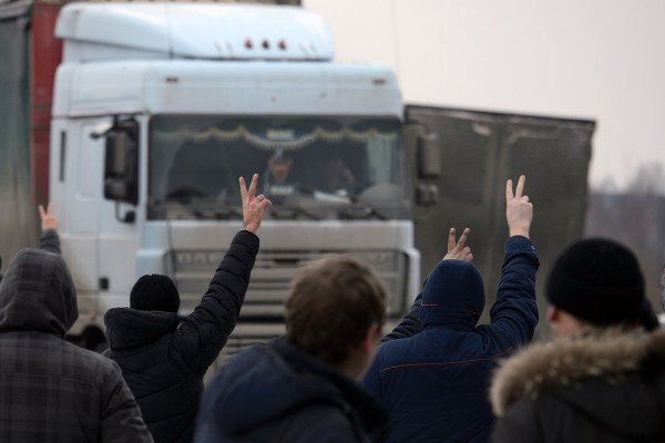 Митинг дальнобойщиков