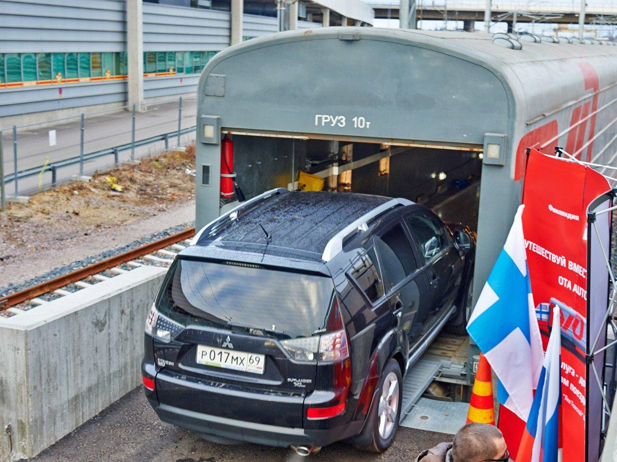 ЖД перевозка автотранспорта на колесном ходу, особенности размещения. Часть 1