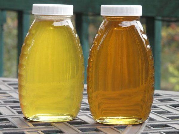 Мёд в упаковке объёмом 1 л