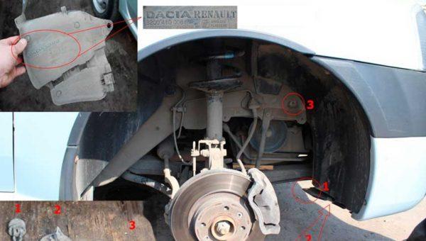 «Рено Логан» со снятой защитой правого колеса