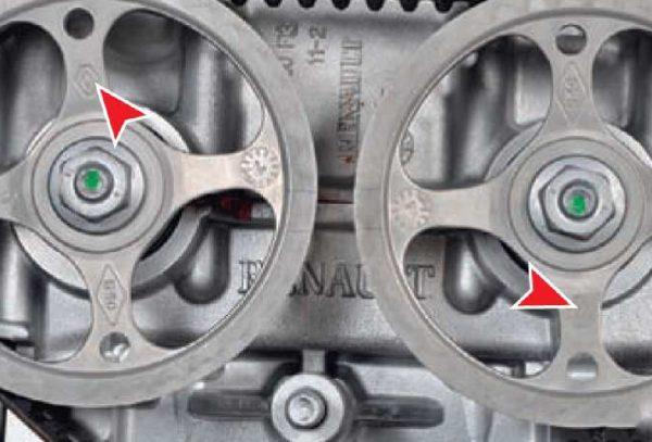 Шестерни распредвалов на «Рено Логан» с 16 клапанами