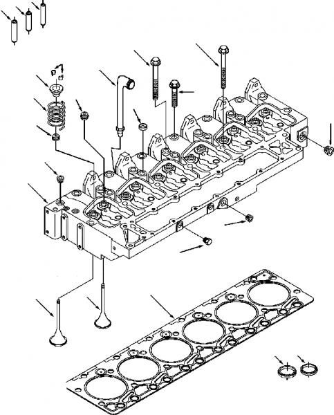 Схема устройтва головки блока цилидров и прокладка ГБЦ