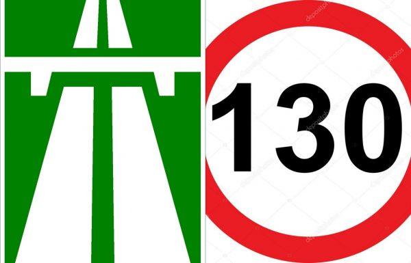 Знаки: автомагистраль и ограничение скорости 130 км/ч