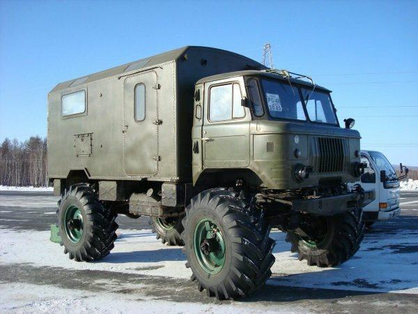 ГАЗ-66 с колёсами большого диаметра