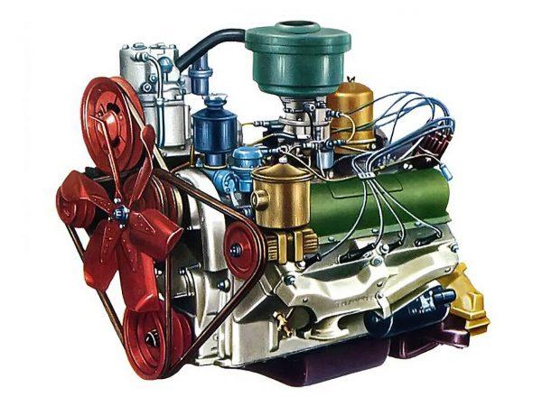 Схема двигателя ЗИЛ-130