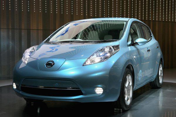 Nissan Leaf в салоне