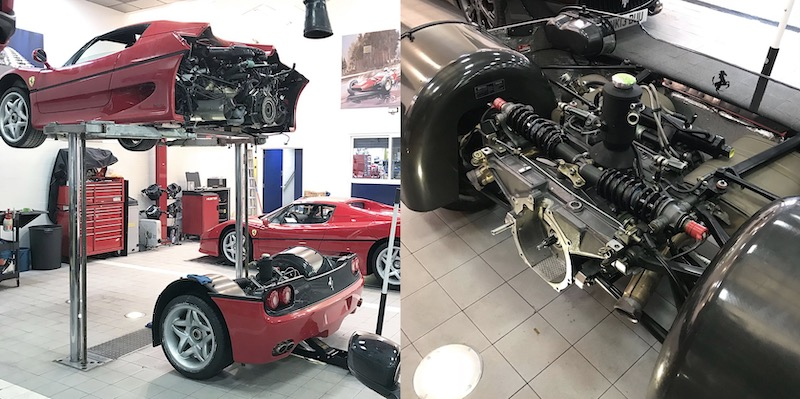 Почему Ferrari F50 нужно разделить на две части для замены сцепления